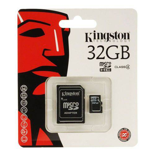 Memory Card SD Class 4 Micro+adapter 32gb Kingston