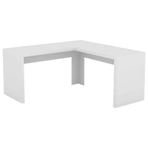Mesa Angular para Escritório Me4116 Branco Tecno Mobili