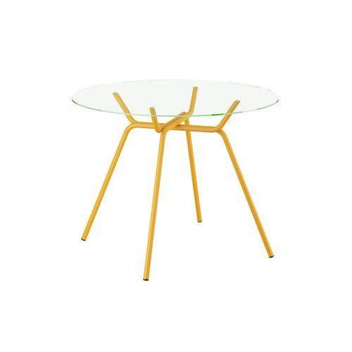 Mesa Carraro - 1527 Color - Cor Amarelo Ouro - Vidro 6mm