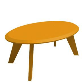 Mesa Centro Artelly para Sala Ellis 91x59x33cm Amarelo