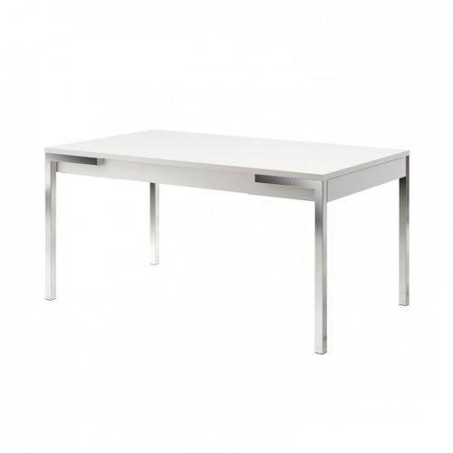 Mesa com 2 Gavetas Combine Carraro Branco/Cromado
