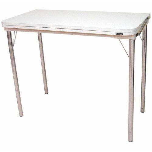 Mesa com Tampo Dobrável 249 Branco/cromado - Carraro