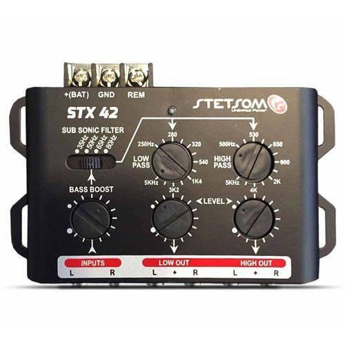 Mesa Crossover Stetsom Stx42 2 Canais 2 Vias de Saída Stereo Automotivo