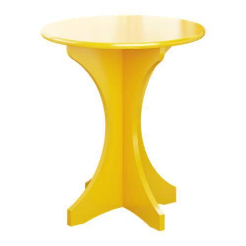 Mesa de Apoio Arthur - Amarelo - Tommy Design