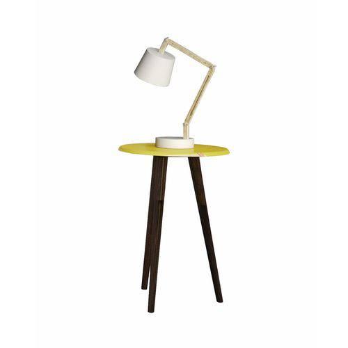 Mesa de Apoio Brilhante Amarelo 2074532 - Móveis Bechara