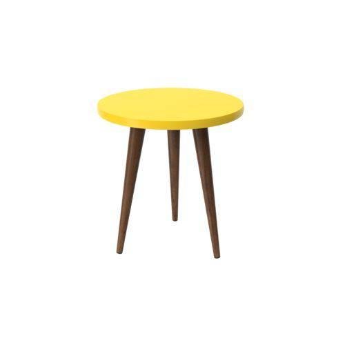 Mesa de Apoio Decorativa Legs Amarelo - Patrimar Móveis