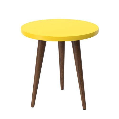 Mesa de Apoio Retrô Legs Patrimar - Amarelo