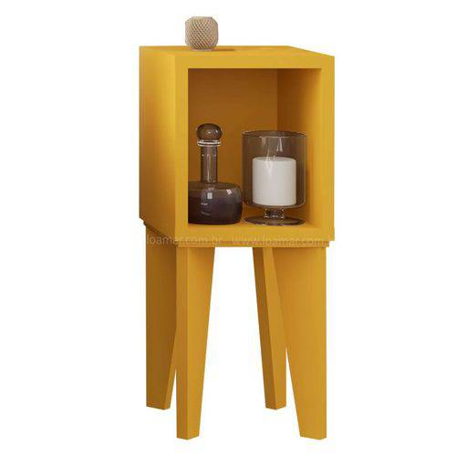 Mesa de Canto Tubi Amarelo - Rv Móveis