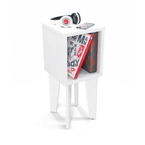 Mesa de Canto Tubi Branco - RV Móveis