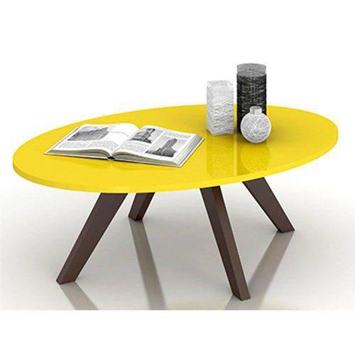 Mesa de Centro Alba - Dj Móveis - Amarelo