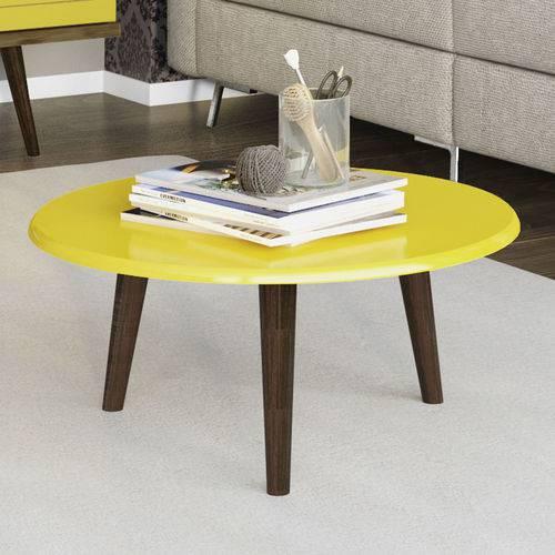 Mesa de Centro Amarelo Brilho - Móveis Bechara
