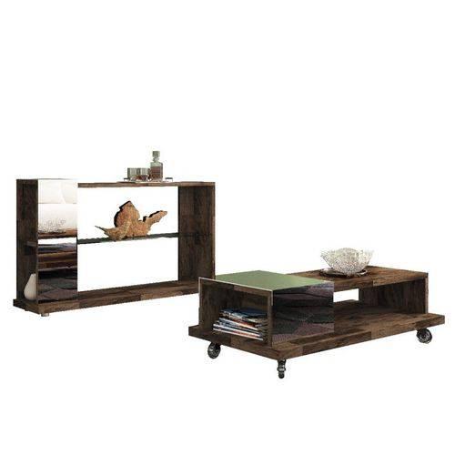Mesa de Centro Bella com Aparador Idealy Deck - Hb Móveis