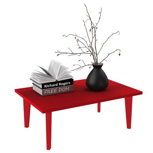Mesa de Centro Bili Vermelho - Rv Móveis