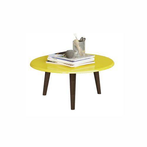 Mesa de Centro Brilhante Amarelo 2074520 - Móveis Bechara