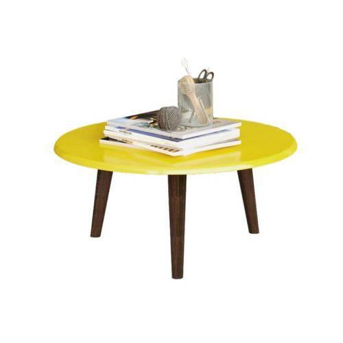 Mesa de Centro Brilhante Amarelo - Bechara