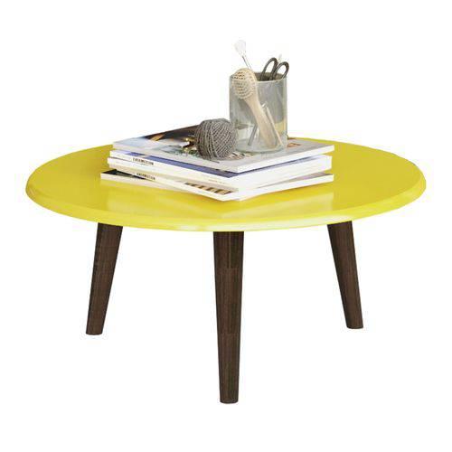Mesa de Centro Brilhante Amarelo Móveis Bechara