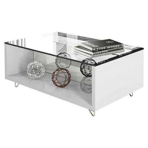 Mesa de Centro Charmy Branco - HB Móveis