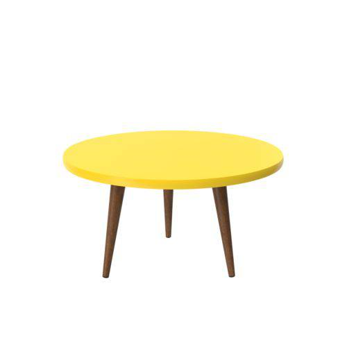 Mesa de Centro Decorativa Legs Amarelo - Patrimar Móveis