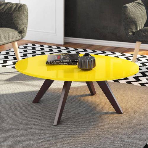 Mesa de Centro em Mdf Alba DJ Móveis - Amarelo