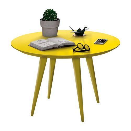 Mesa de Centro Pés Palito Grace Amarelo - Edn Móveis