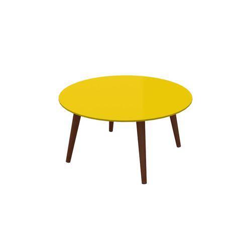 Mesa de Centro Retro 700mm - Amarelo - Artesano