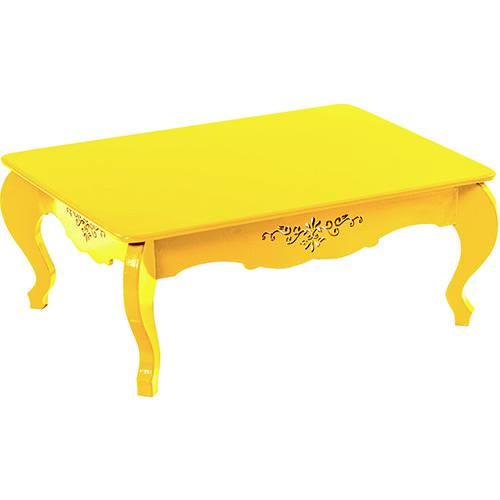 Mesa de Centro Retrô P Amarelo Mundo Móveis
