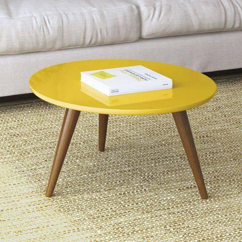 Mesa de Centro Sorelle - Amarela - Hb Móveis