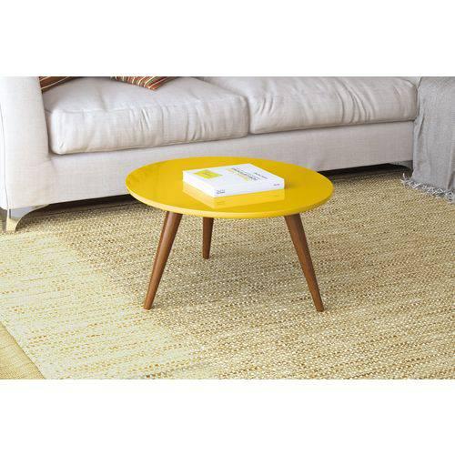 Mesa de Centro Sorelle-Amarelo-HB Móveis