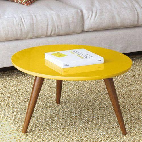 Mesa de Centro Sorelle Amarelo - Hb Móveis