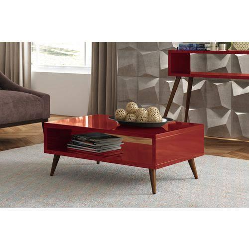 Mesa de Centro-Vermelho-HB Móveis
