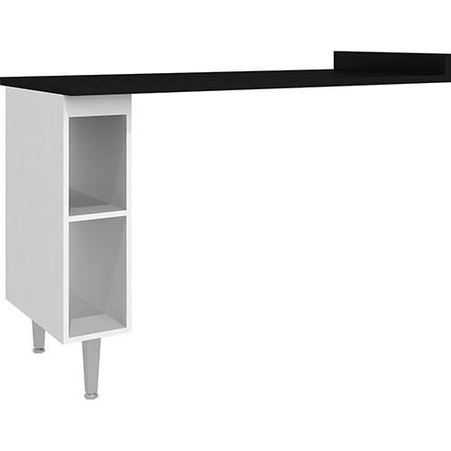 Mesa de Cozinha Auxiliar Preto (92x60x135cm) - Art In Moveis