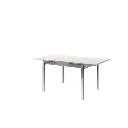 Mesa de Cozinha Carraro 1541 Cromada Extensível Retangular Branco