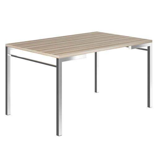 Mesa de Cozinha Carraro 1526 Tampo Bp e Estrutura de Aço Nogueira / Cromado