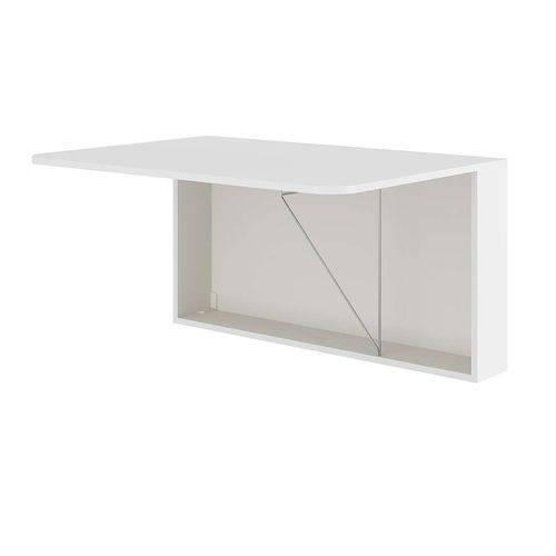 Mesa de Cozinha Complementos Dobrável Uf Branco
