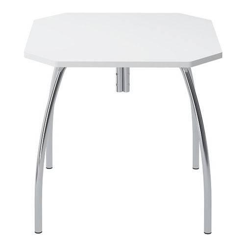 Mesa de Cozinha Quadrada 150415355 Branco/cromado 2v - Carraro