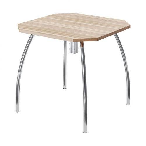 Mesa de Cozinha Quadrada 150416100 Nogueira/cromado 2v - Carraro