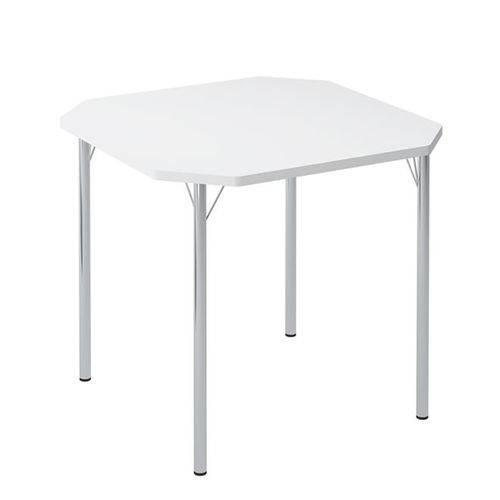 Mesa de Cozinha Quadrada 151015355 Branco/cromado 2v - Carraro