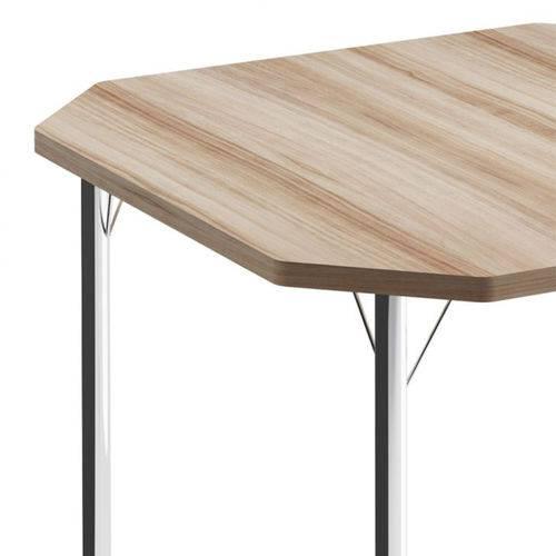 Mesa de Cozinha Quadrada 151016100 Nogueira/cromado 2v - Carraro
