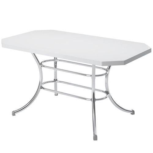 Mesa de Cozinha Retangular 150715355 Branco/cromado 2v - Carraro