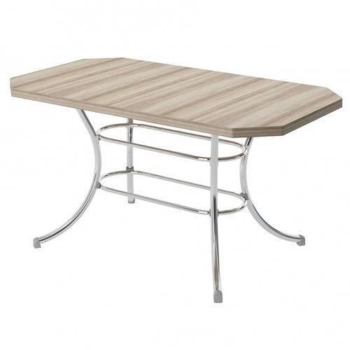 Mesa de Cozinha Retangular 150716100 Nogueira/cromado 2v - Carraro