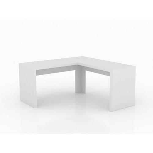 Mesa de Escritório Angular Tecno Mobili Me4116 Branco