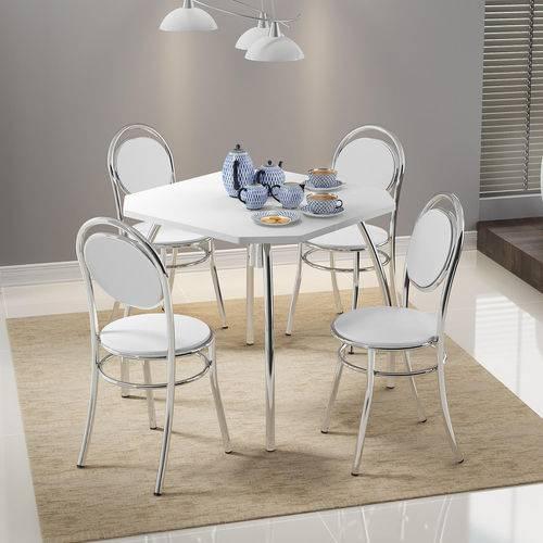 Mesa de Jantar Jeans Carraro não Acompanha Cadeiras Branco
