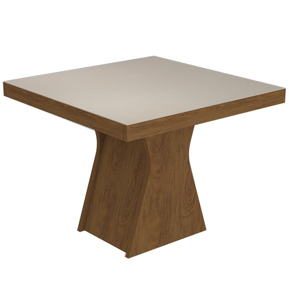 Mesa de Jantar Olívia 100cm - Savana/Off White