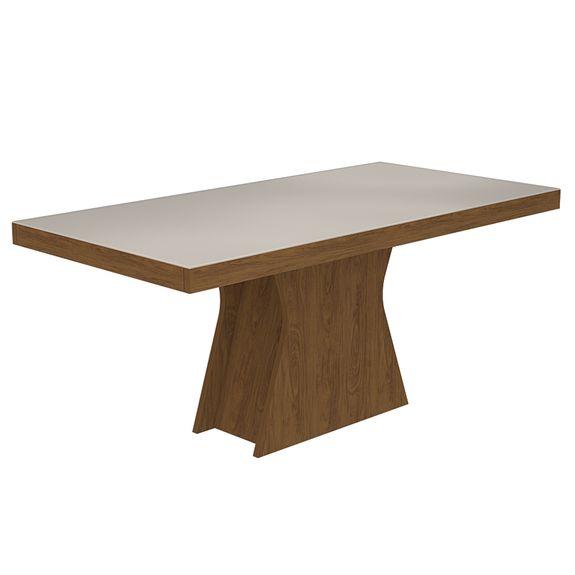Mesa de Jantar Olívia 160cm - Savana/Off White