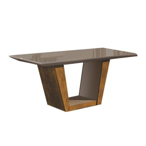 Mesa de Jantar Viggor Plus com Vidro Offwhite para 6 Lugares1,70m - Ypê
