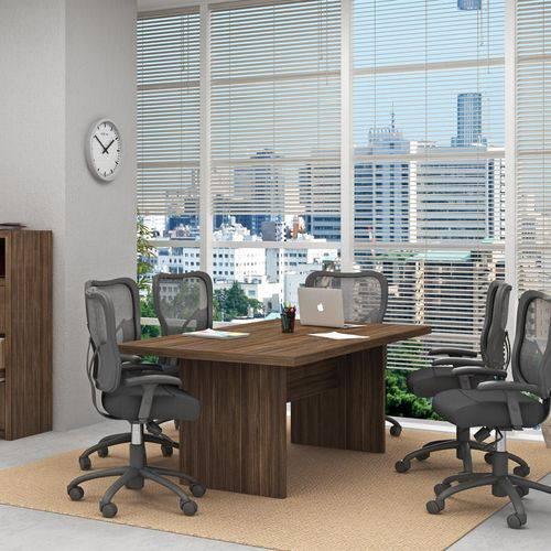 Mesa de Reunião ME4119 Tecno Mobili Nogal
