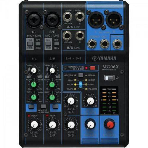 Mesa de Som 6 Canais Mg06x Yamaha