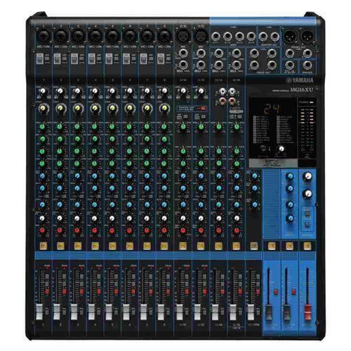 Mesa de Som Analógica Yamaha MG16XU Bivolt com 16 Entradas Pré-Amplificador D-PRE 24 Efeitos