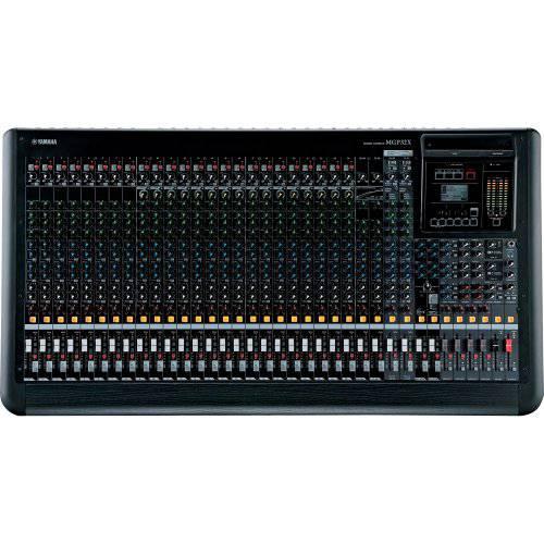 Mesa de Som Yamaha Mgp32x Analógica com 32 Canais 24 Entradas de Microfone Efeitos de Alta Resolução