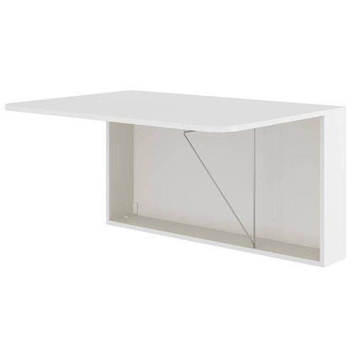 Mesa Dobrável e Suspensa para Cozinha 1 Porta Basculante 1540 100% Mdp Branco - Carraro